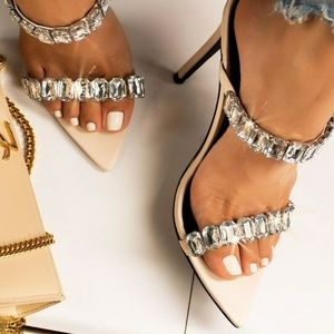 NEW🔥 Open Toe Rhinestone Double Strap Sandals